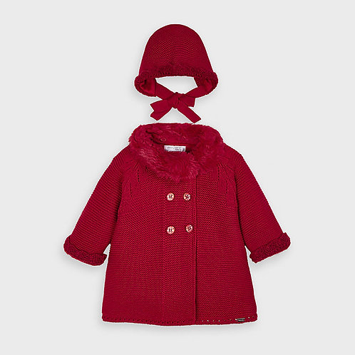 Abrigo tricto con capota
