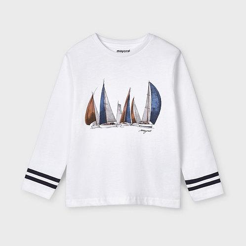 Camiseta manga larga barcos