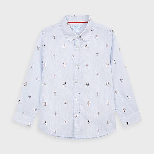 Camisa manga larga estampada