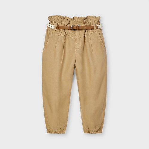 Pantalón largo fluido cinturón