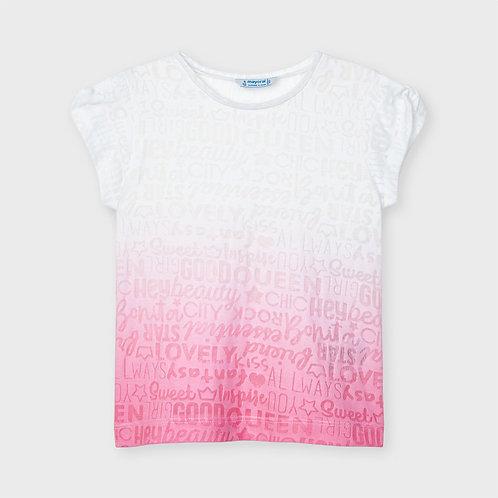 Camiseta manga corta degradada