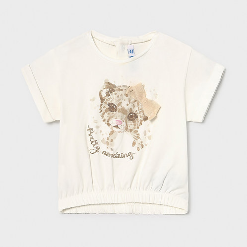 Camiseta manga corta leoparda