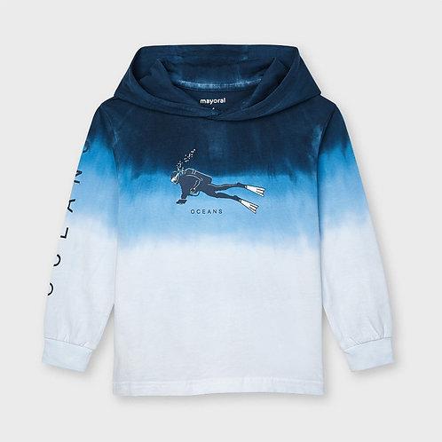 Camiseta manga larga dip dye