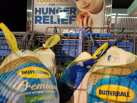 Over 6,600 Turkeys Donated To Our Local Food Banks, Online Donations Accepted Through Weekend.