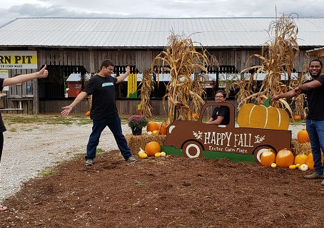 The Crew Had A Chance To Check Out Exeter Corn Maze.