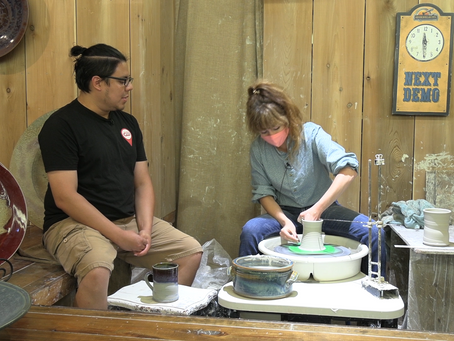 The Crew checks out Hillcreek Pottery At Silver Dollar City!