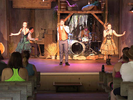 The Crew Checked out the Rivertown Ramblers show at Silver Dollar City