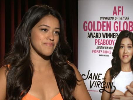 Crew Member Dustin Williams speaks with award-winning actress Gina Rodriguez.