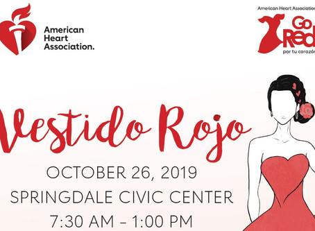 Fashion Designer Rulli Torres to hold Fashion show at Vestido Rojo in Springdale on October 26th.