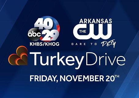 40/29 & THE ARKANSAS CW  TURKEY DRIVE ON FRIDAY, NOVEMBER 20th