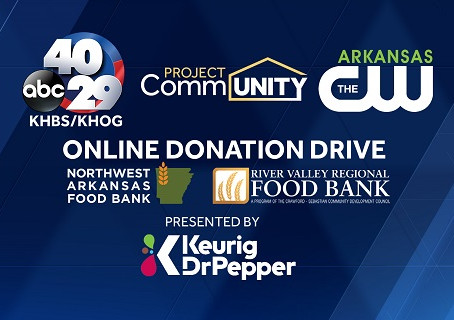 Donation Drive To Benefit The River Valley Regional and Northwest Arkansas This Monday.