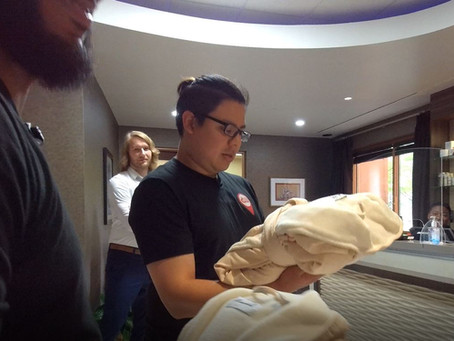 The Crew Checks tries out Nee Spa, Ma Ko-Sha Coffee and golf at Downstream Casino Resort.
