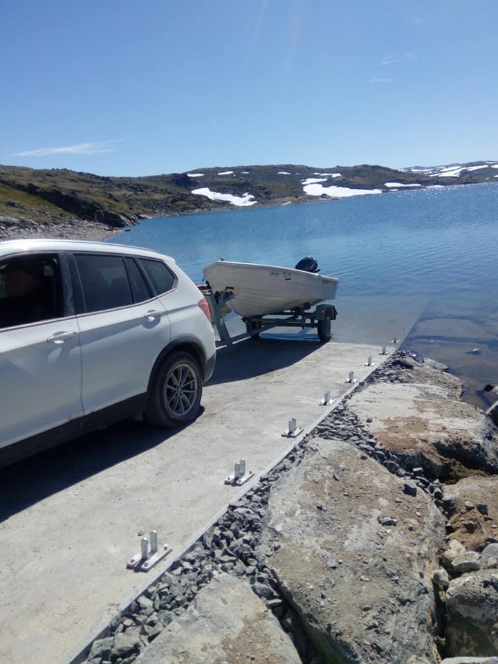 Den nye utsettingsrampa ved Kvevatnet