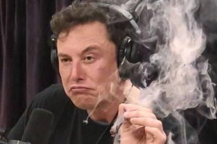 Musk's smoking Teslas