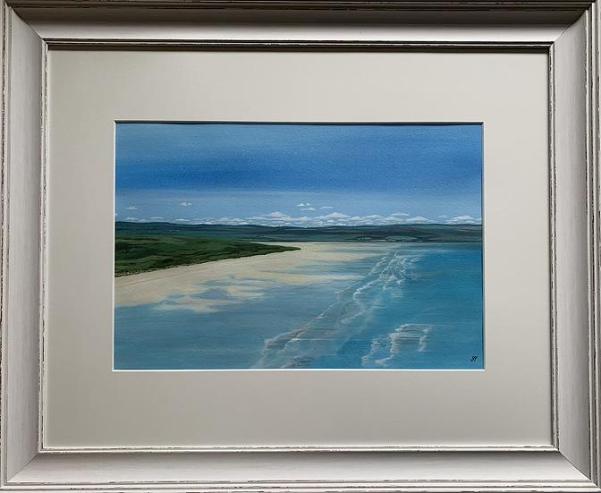 Saunton Sands ORIGINAL - signed, mounted and framed