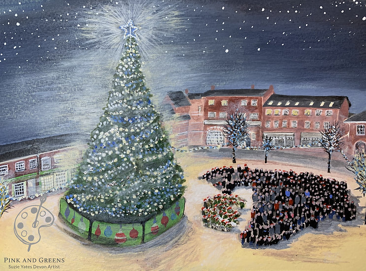 Tidings of comfort and joy - Christmas in Crediton.  Pack of 5 A6 cards.