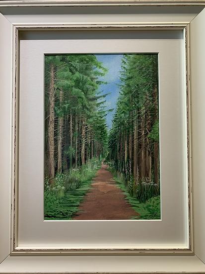 Heywood Woods ORIGINAL - signed, mounted and framed.