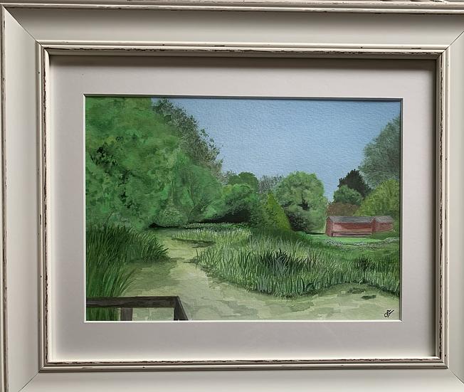 Sandford Millenium Green ORIGINAL - signed, mounted and framed