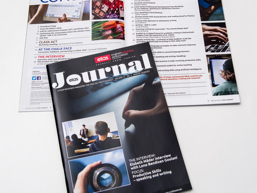 Design of 88-page Journal for English Teachers Association of Switzerland