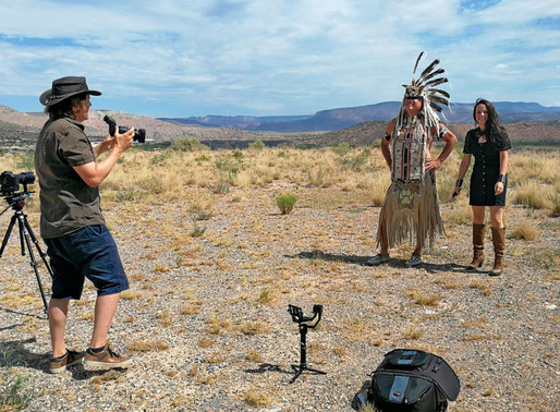 Navajo video shot in sweaty Sedona, Arizona with Caroline Breitler