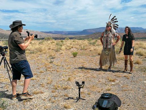 Navajo video shot in sweaty Sedona, Arizona with Caroline Breitler