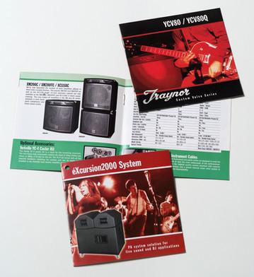 Traynor/Yorkville mini-catalogues