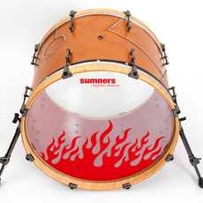 leatherclad and rivets set - 22-inch bass drum.