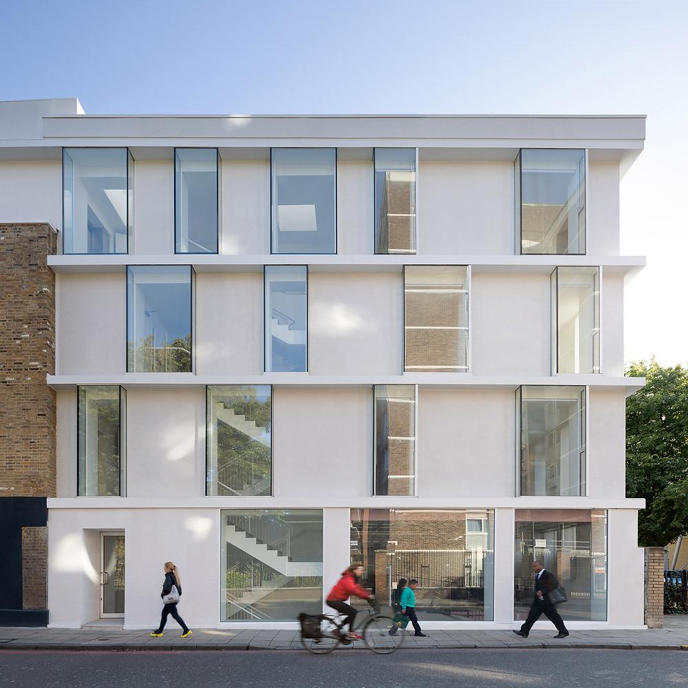 Edificio de departamentos en el este de Londres