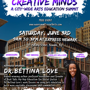 Dr. Bettina Love to Speak at Newark Arts Education Summit 6/3