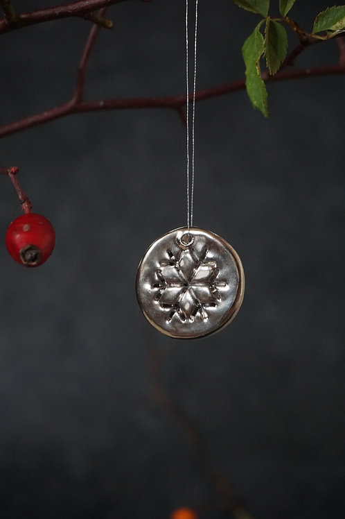 Snowflake Coin Ornament Real Platinum