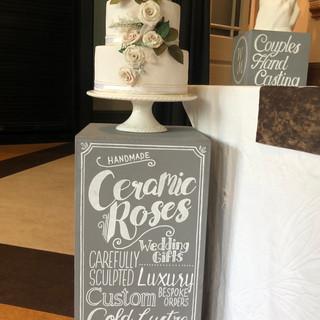 Porcelain Wedding Cake Decor