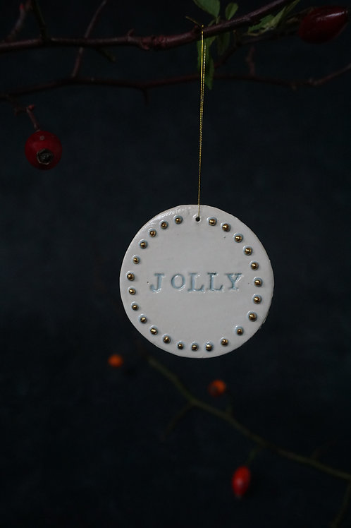 Jolly Ornament Real Gold