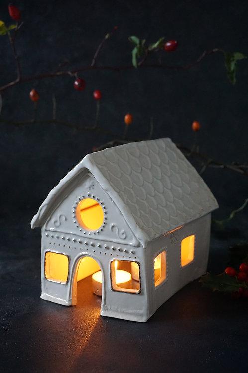 Gingerbread Tealight House Real Platinum