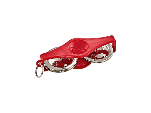 MEINL Percussion Key Ring Tambourine ABS Kunststoff rot/vernickelter Stahl