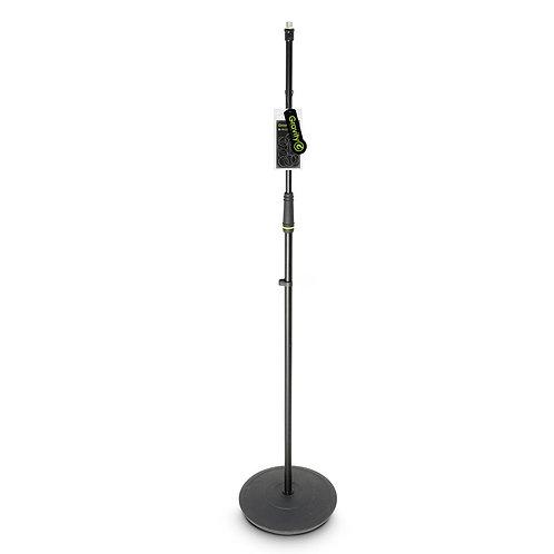 Gravity Mikrofonständer gerade mit Tellerfuß schwarz