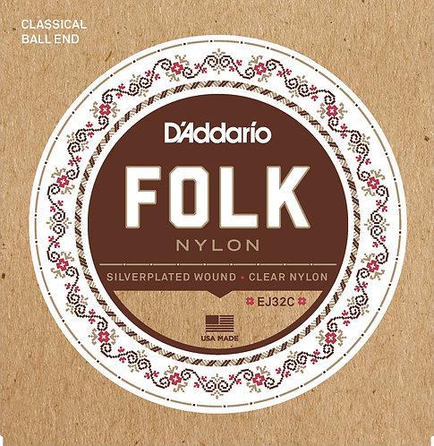 D'Addario Saitensatz Folk Nylon Guitar .028, .032, .040, .031, .037, .045