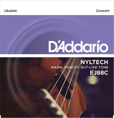 D'Addario Saitensatz Ukulele, Konzert Nyltech .024, .031, .037, .026