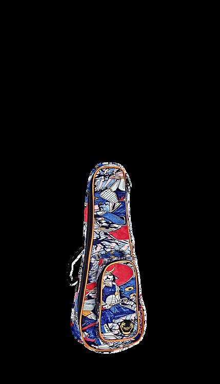 KEIKI Gigbag für Sopran Ukulelen mit Schultergurten Samurai