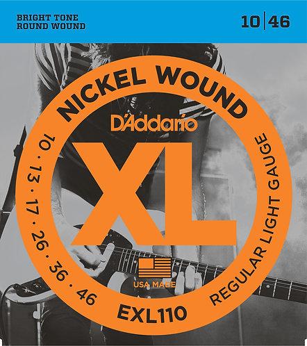 D'Addario Plain Steel / Nickel Wound Regular Light Saitenstärke .010 - .046