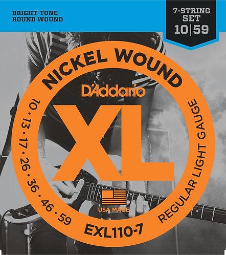D'Addario Satz E-Gitarren-Saiten 010' - 059'