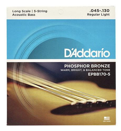 Daddario Phosphor Bronze für 5-saitigen Akustik Bass