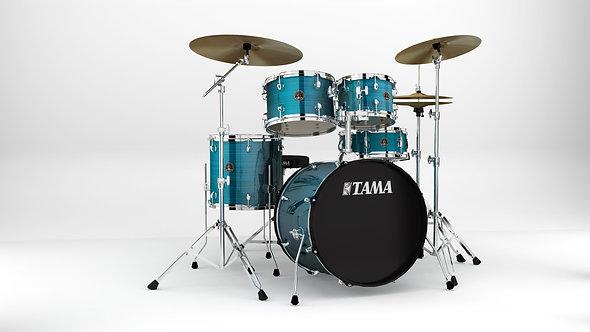 TAMA Rythm Mate Drum Set 5 teilig + MEINL Cymbals BCS Set - Hairline Blue/Chrom