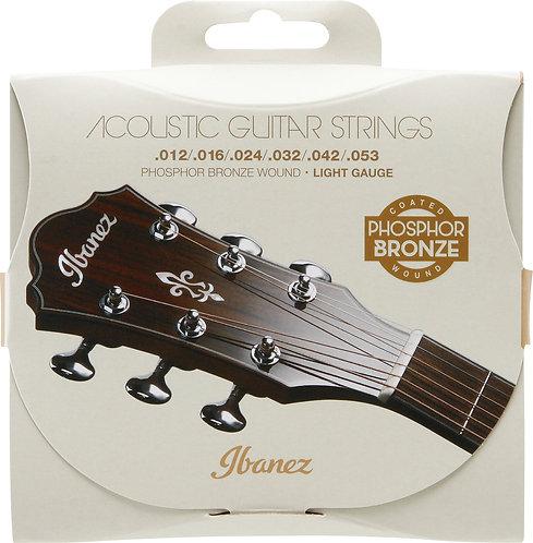 IBANEZ Saiten Set für 6 String Light .012/.016 /.024 /.032 /.042 /.053 Phosphor