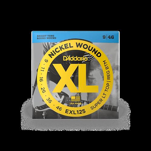 D'Addario EXL125 Saiten für E-Gitarre, mit Nickel umsponnen, Super Light