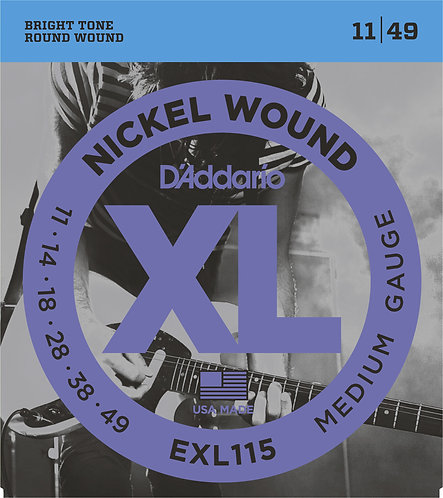 D'ADDARIO BLUES/JAZZ ROCK NICKEL PLATED STEEL ROUND WOUND