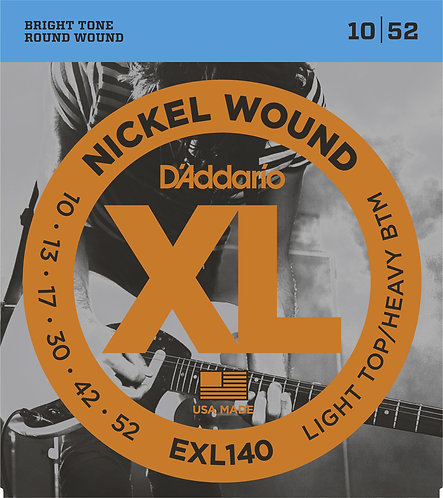 D'ADDARIO LIGHT TOP/HEAVY BOTTOM NICKELPLATED STEEL ROUND WOUND