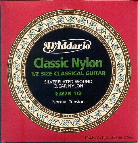 D'Addario Schüler-Saiten Nylon Teilgröße normale Spannung, .029 - .045