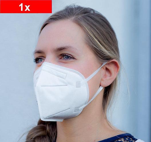 Mund-Nasen-Maske, 5-lagig, FFP2, komfortable Einweg-Maske