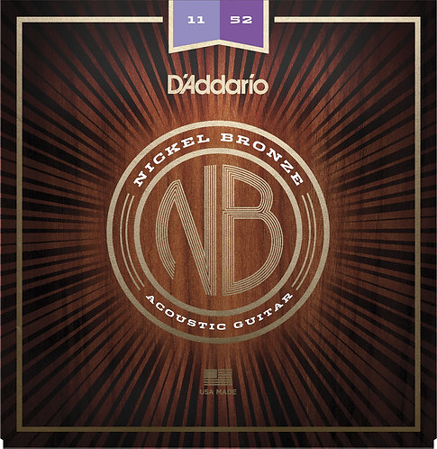 D'Addario Saitensatz Akustikgitarre Nickel Bronze Custom Light  11-52