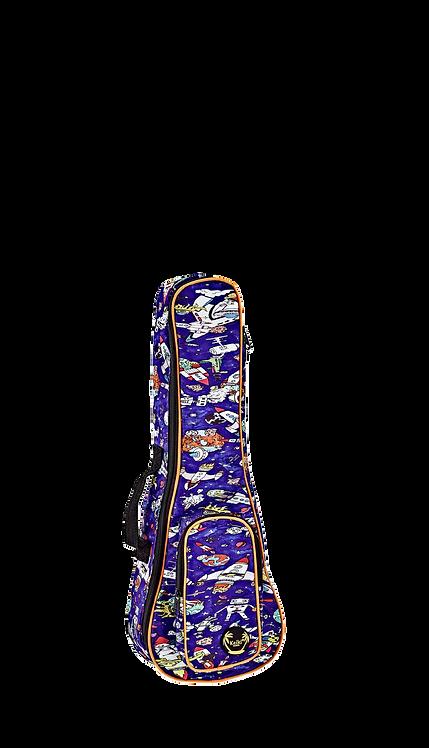 KEIKI Gigbag für Konzert Ukulelen mit Schultergurten Spaceman